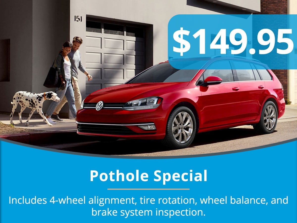 Pothole Special Coupon Tom Wood Volkswagen