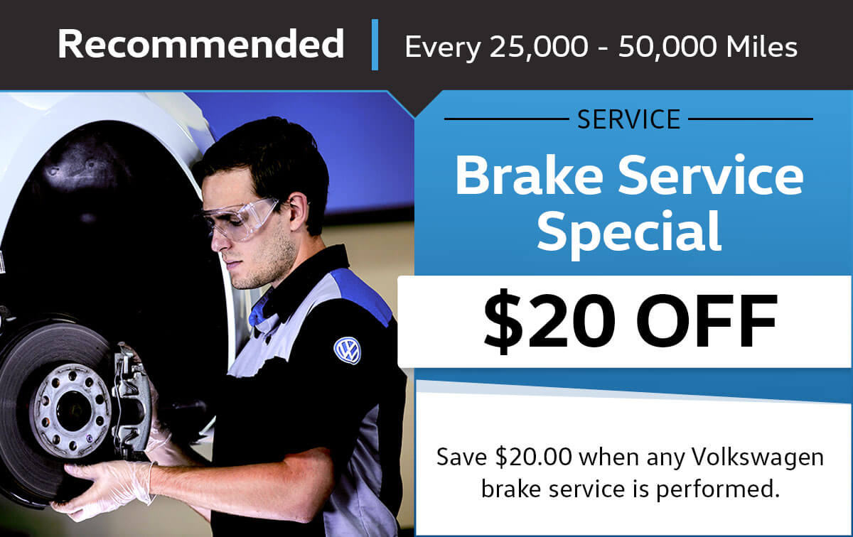 VW Brake Service Special Coupon