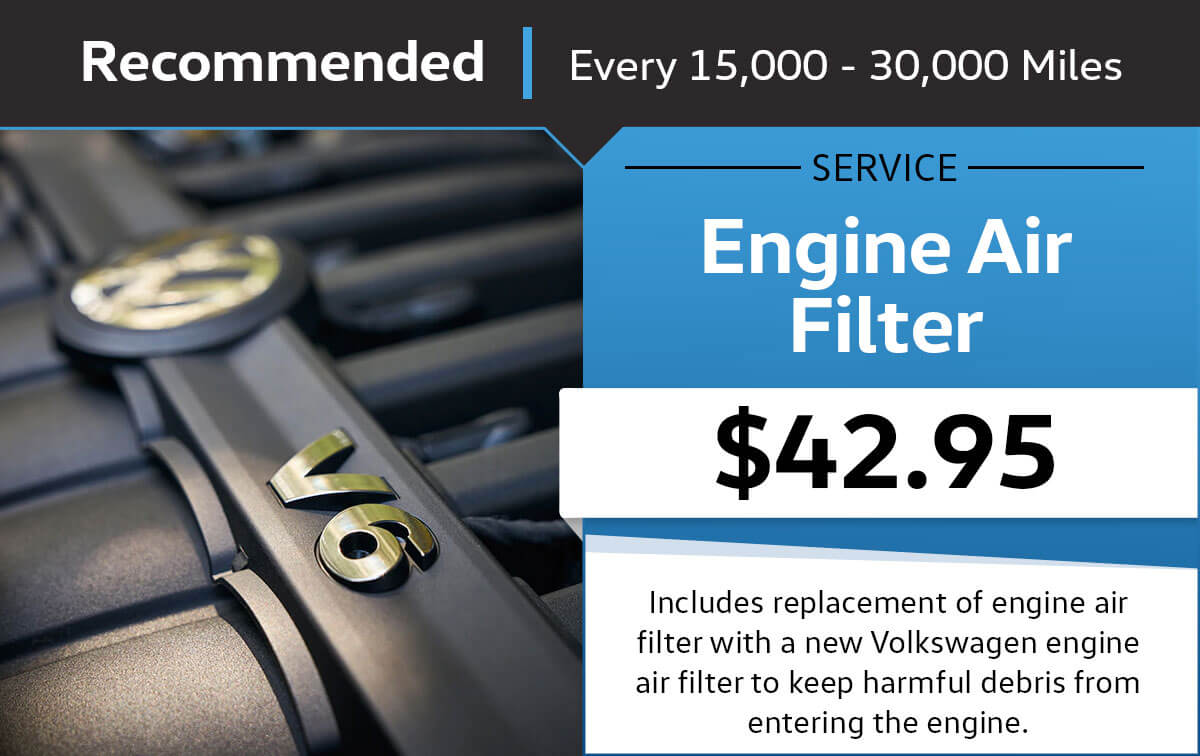 VW Engine Air Filter Service Special Coupon
