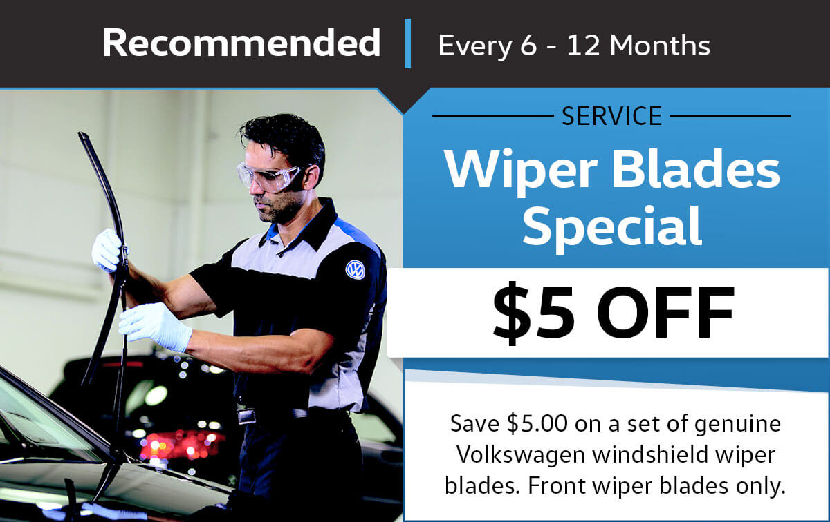 VW Windshield Wiper Blades Service Special Coupon