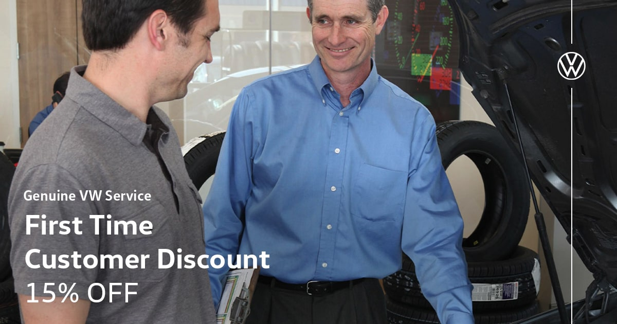 Volkswagen First Time Customer Discount Service Special Coupon
