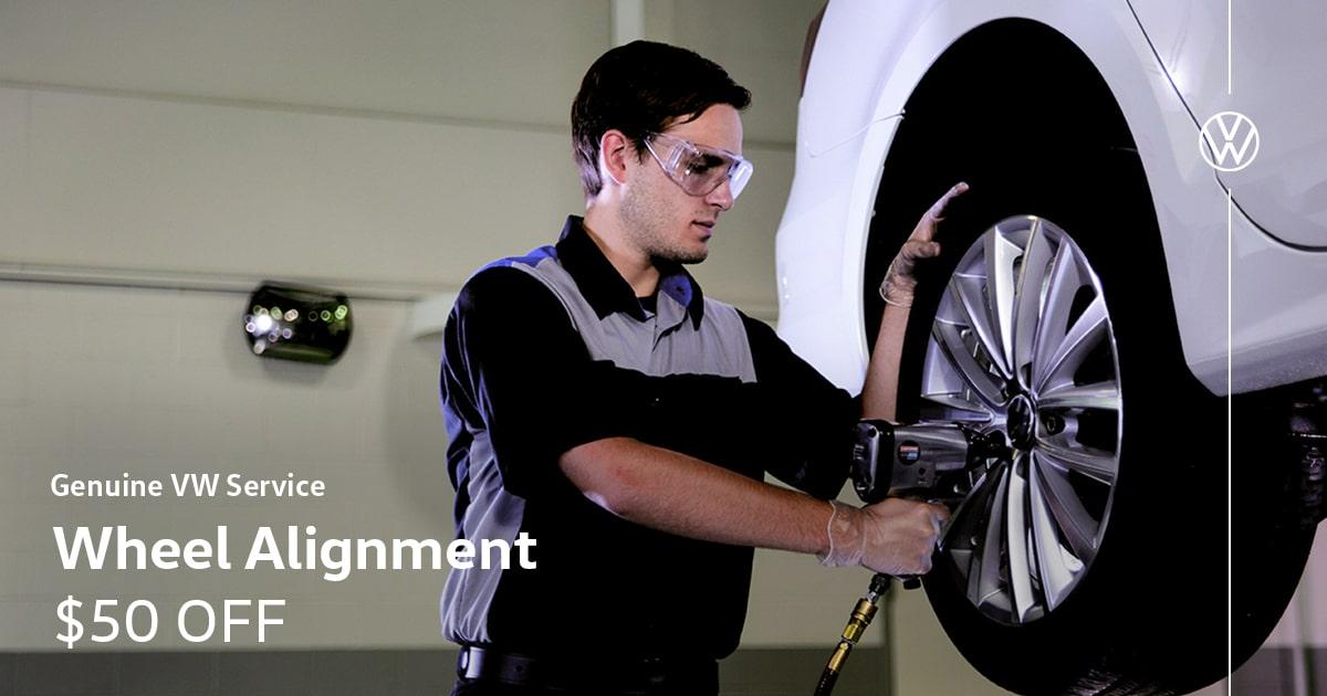 Volkswagen Wheel Alignment Service Special Coupon