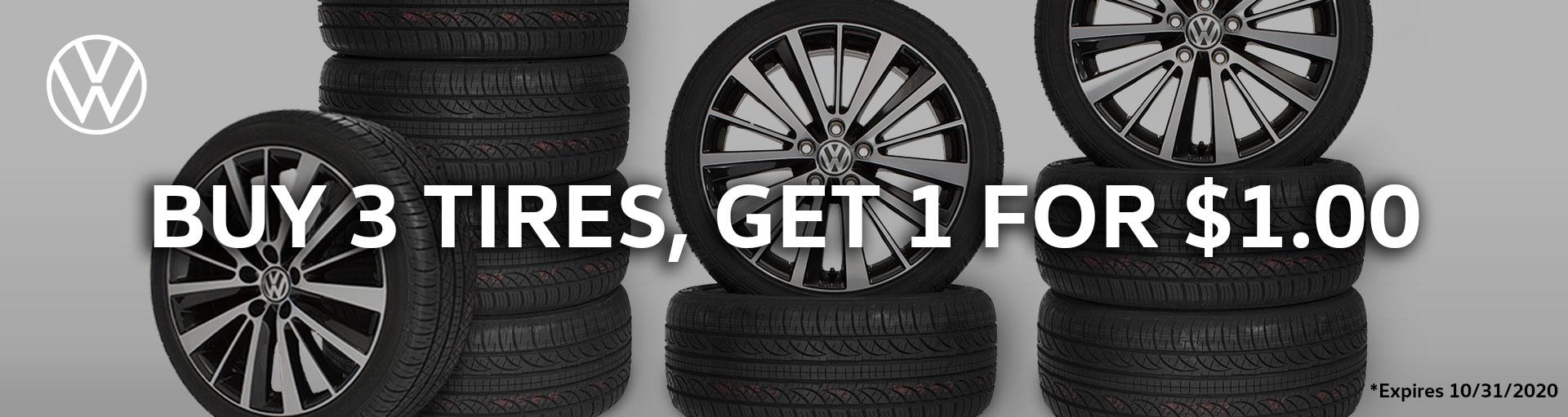 Volkswagen Buy 3 Get 1 Tire Special