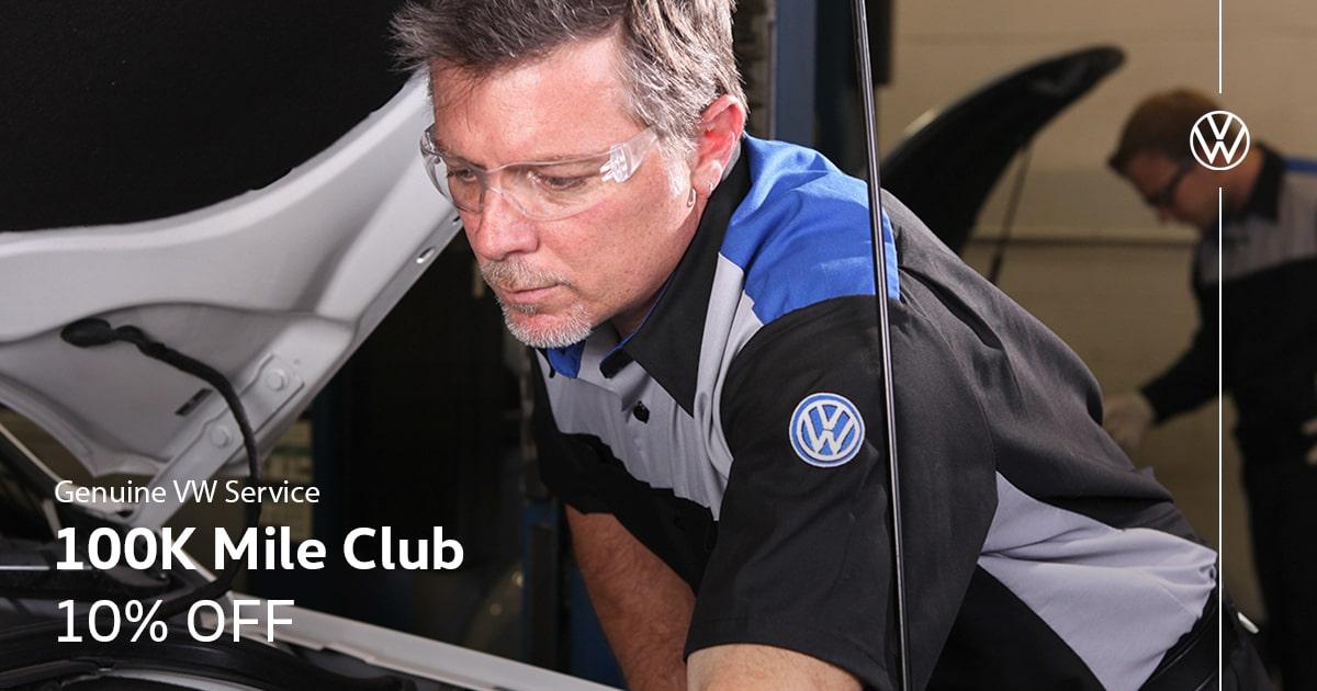 Volkswagen 100K Service Special Coupon