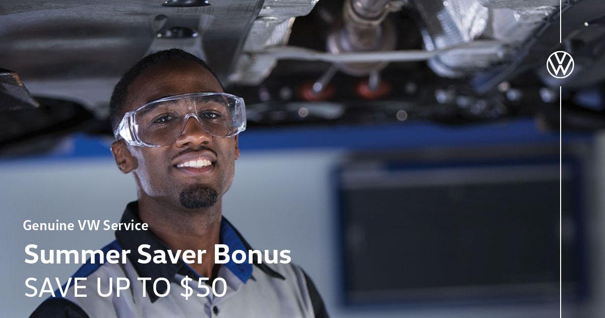 Volkswagen Spring Saver Bonus Service Special Coupon