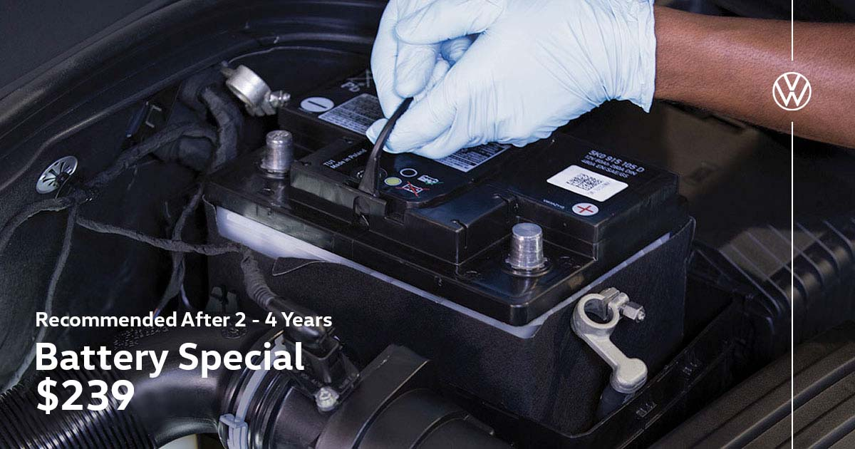 Volkswagen Battery Service Special Coupon