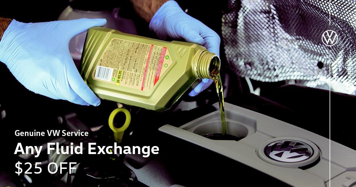 Volkswagen Any Fluid Exchange Service Special Coupon