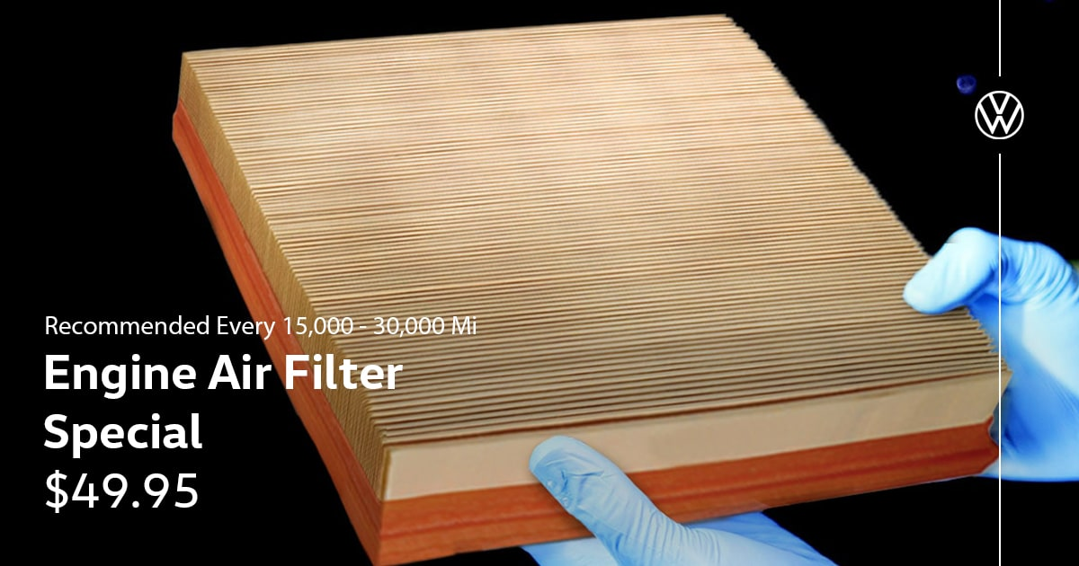 Volkswagen Engine Air Filter Special Service Coupon