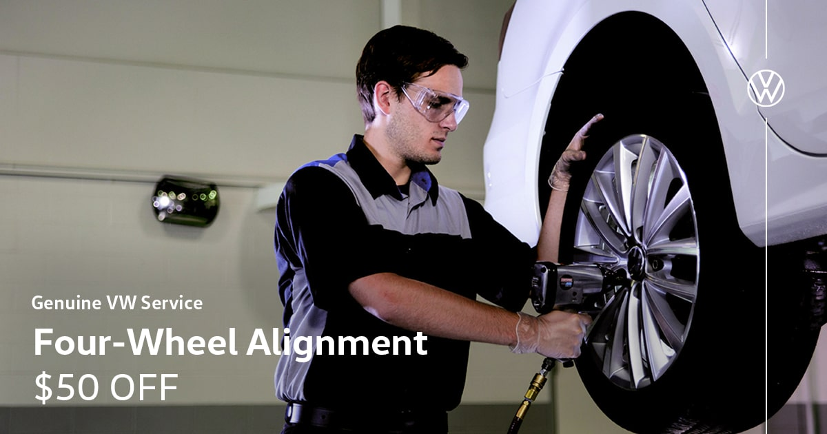 VW AWD Alignment Service Special Coupon