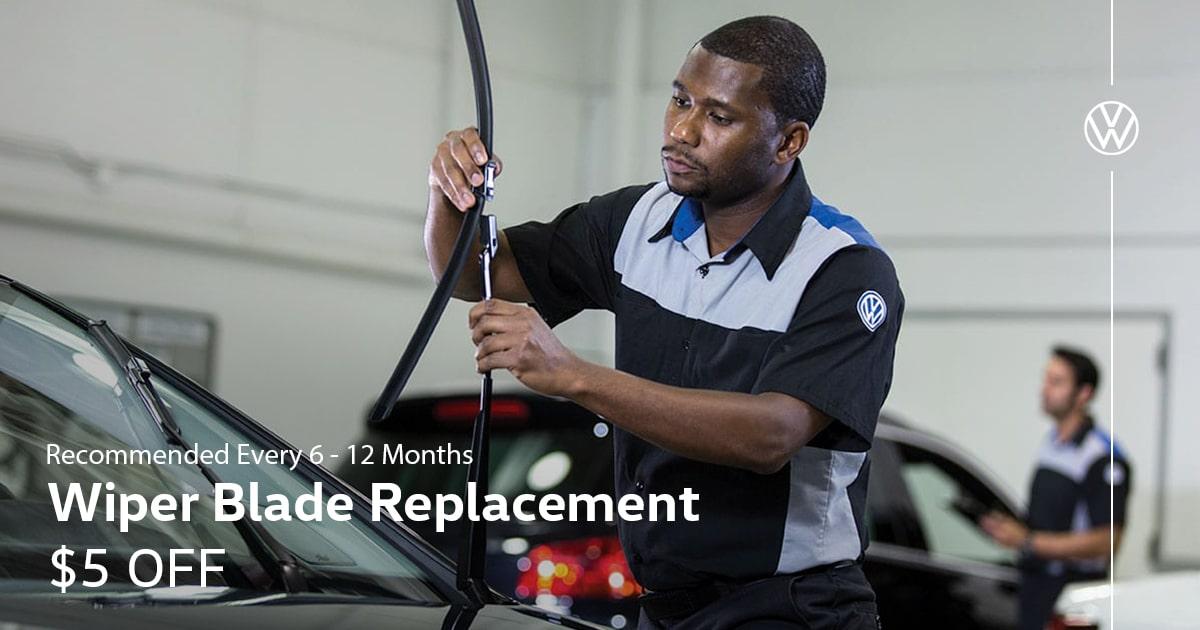 Volkswagen Wiper Blade Replacement Service Special