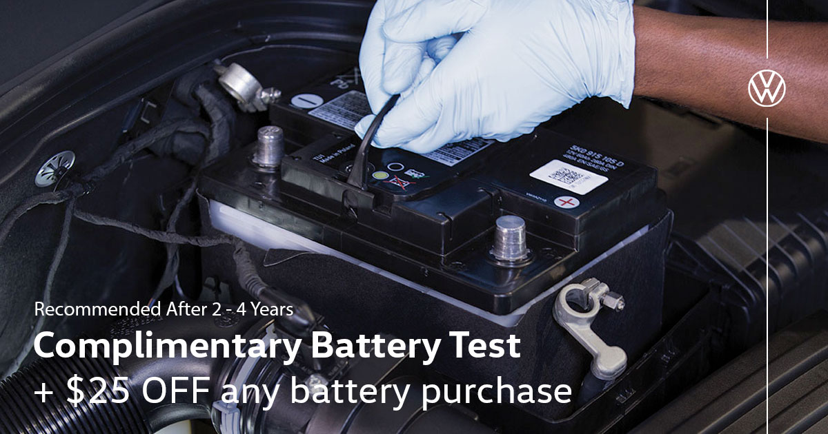 Volkswagen Battery Replacement Special Service Coupon
