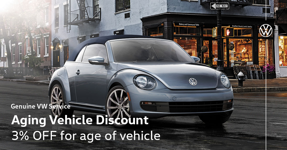 Volkswagen Aging Vehicle Service Special Coupon