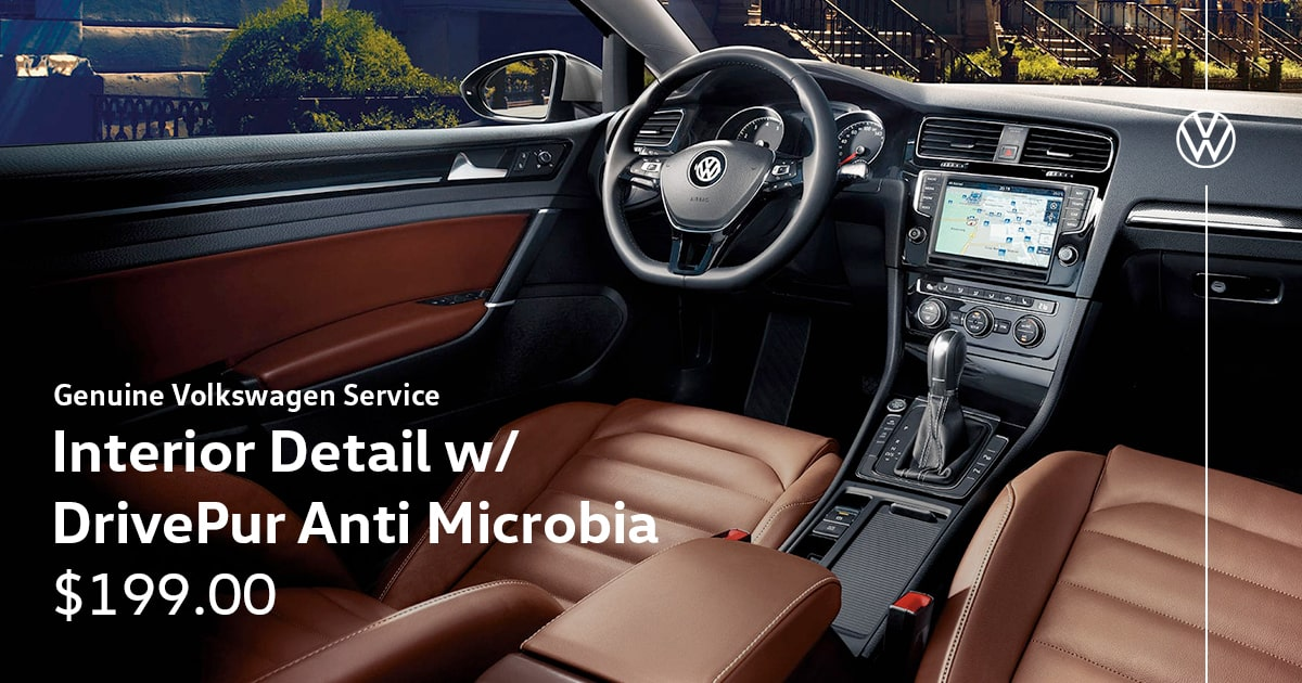 Volkswagen Interior Detail w/ DrivePur Anti Microbia Service Special Coupon