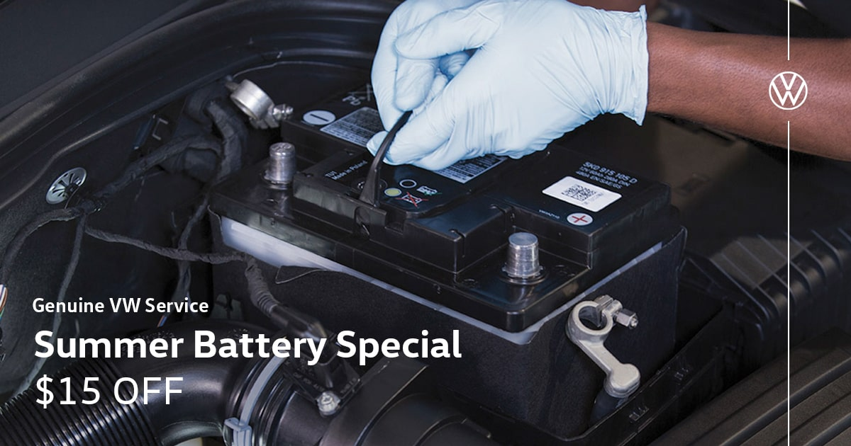 Volkswagen Summer Battery Service Special Coupon