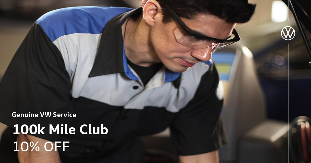 Volkswagen 100k Mile Club Service Special Coupon