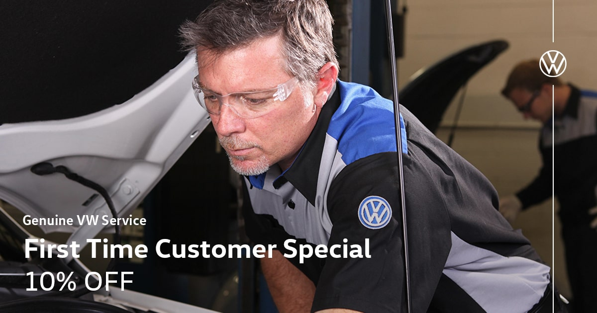 Volkswagen First Time Customer Service Special Coupon