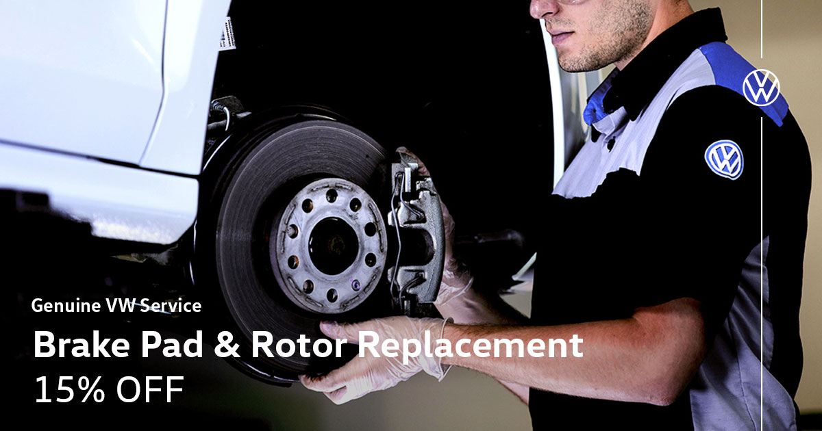 Volkswagen Brake Pad & Rotor Replacement Service Special Coupon
