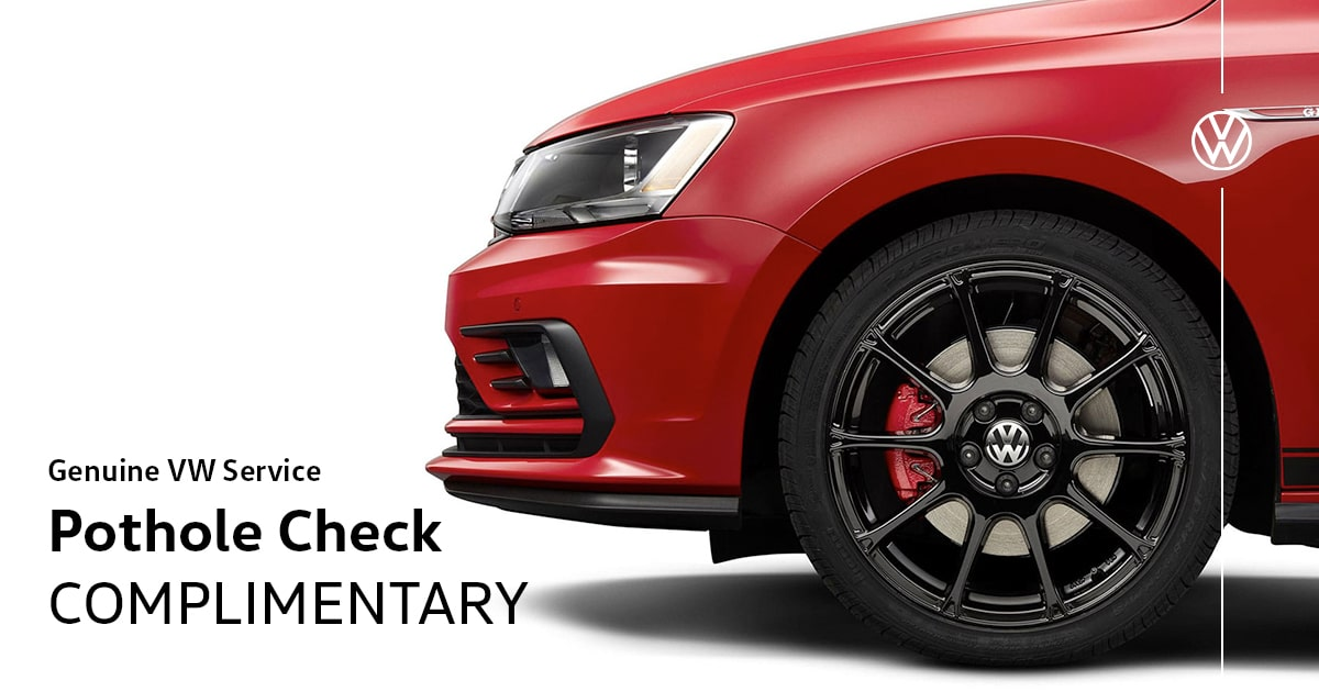 Volkswagen Pothole Check Service Special Coupon