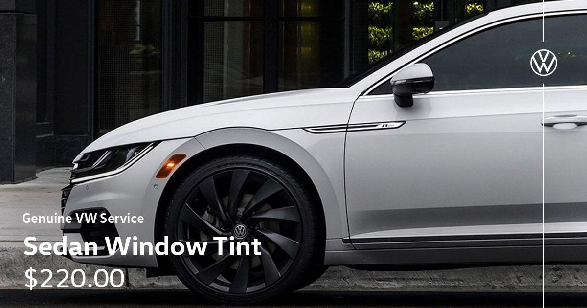 Volkswagen Sedan Window Tint Service Special Coupon