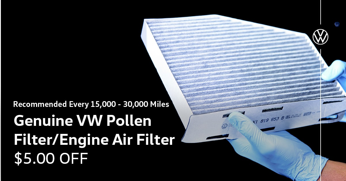 Volkswagen Genuine VW Pollen Filter/Engine Air Filter Service Special Coupon