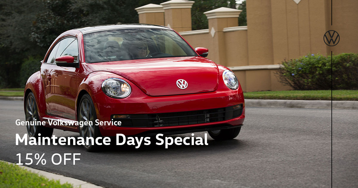 Volkswagen Maintenance Days Service Special Coupon