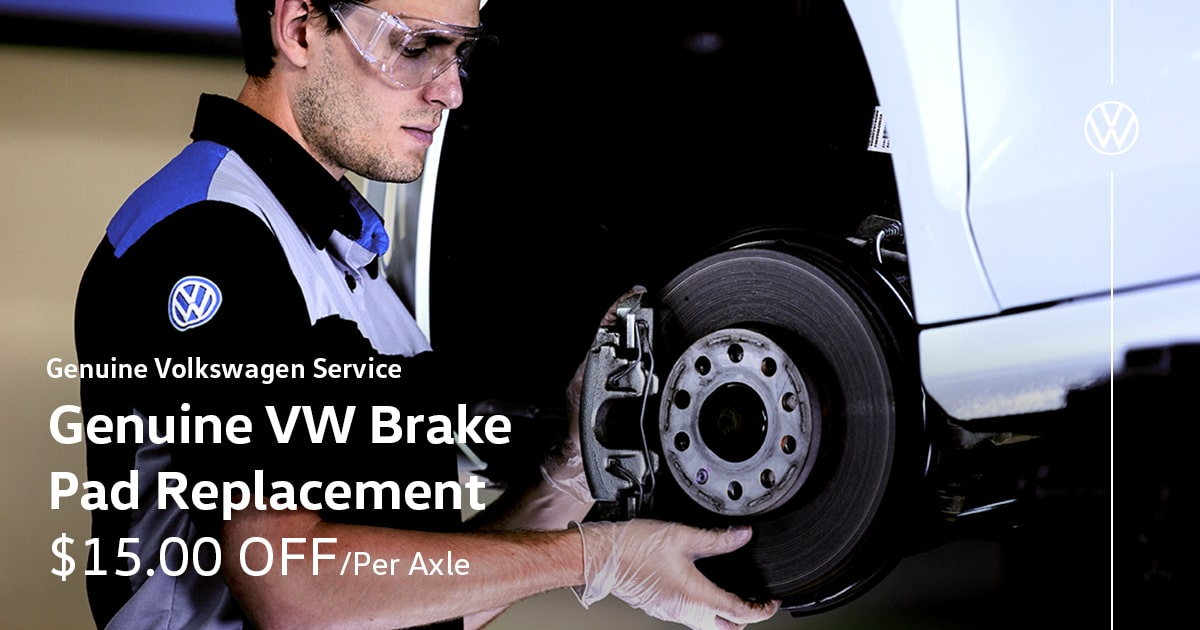 Volkswagen Genuine VW Brake Pad Replacement Service Special Coupon