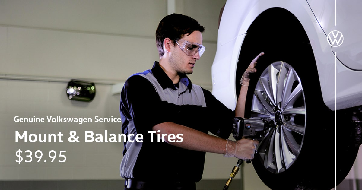 Volkswagen Mount and Balance Tires Service Special Coupon