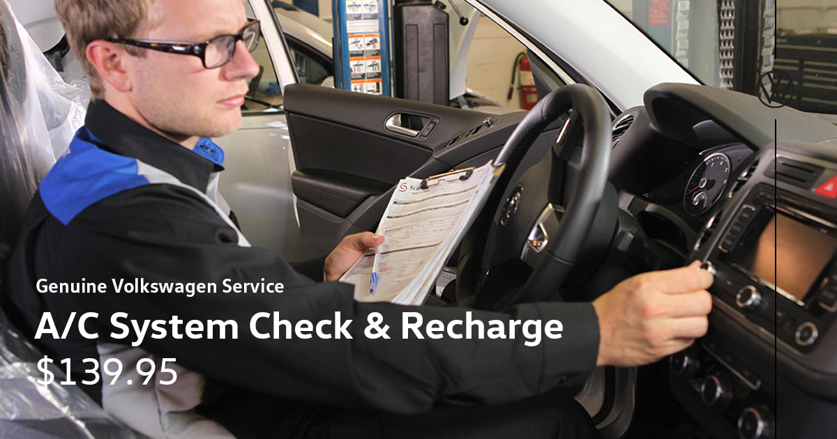 Volkswagen A/C System Check and Recharge Service Special Coupon