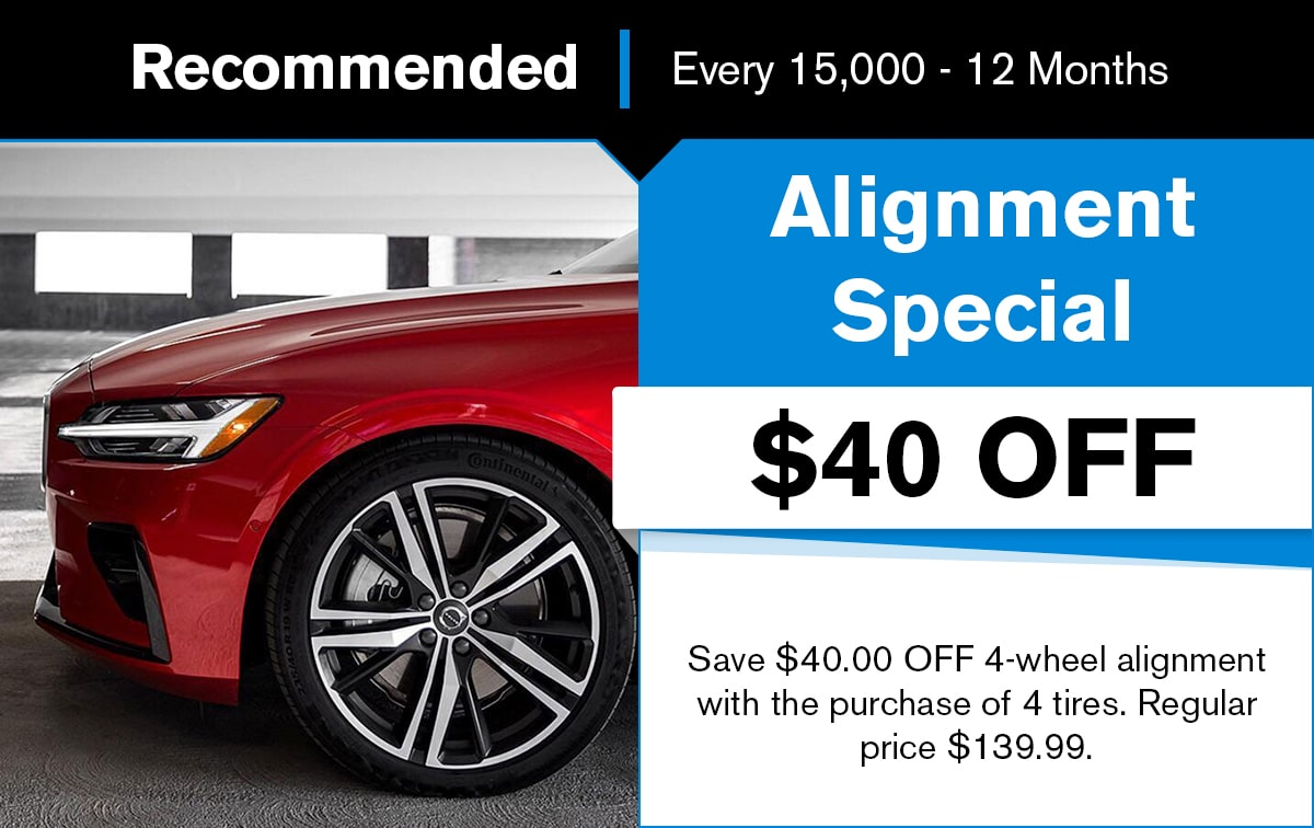Volvo Four-Wheel Alignment Service Special Coupon
