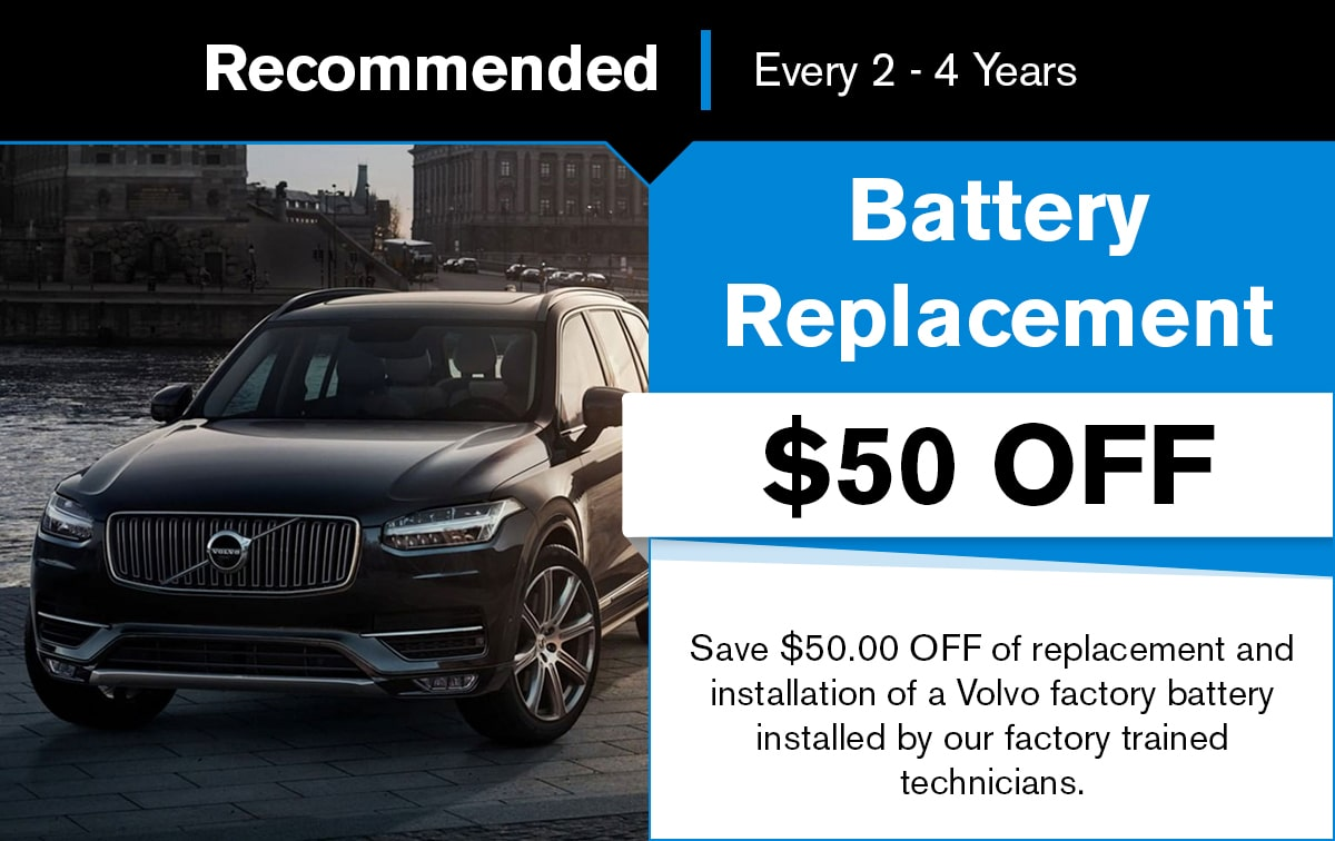 Volvo Battery Replacement Service Special Coupon
