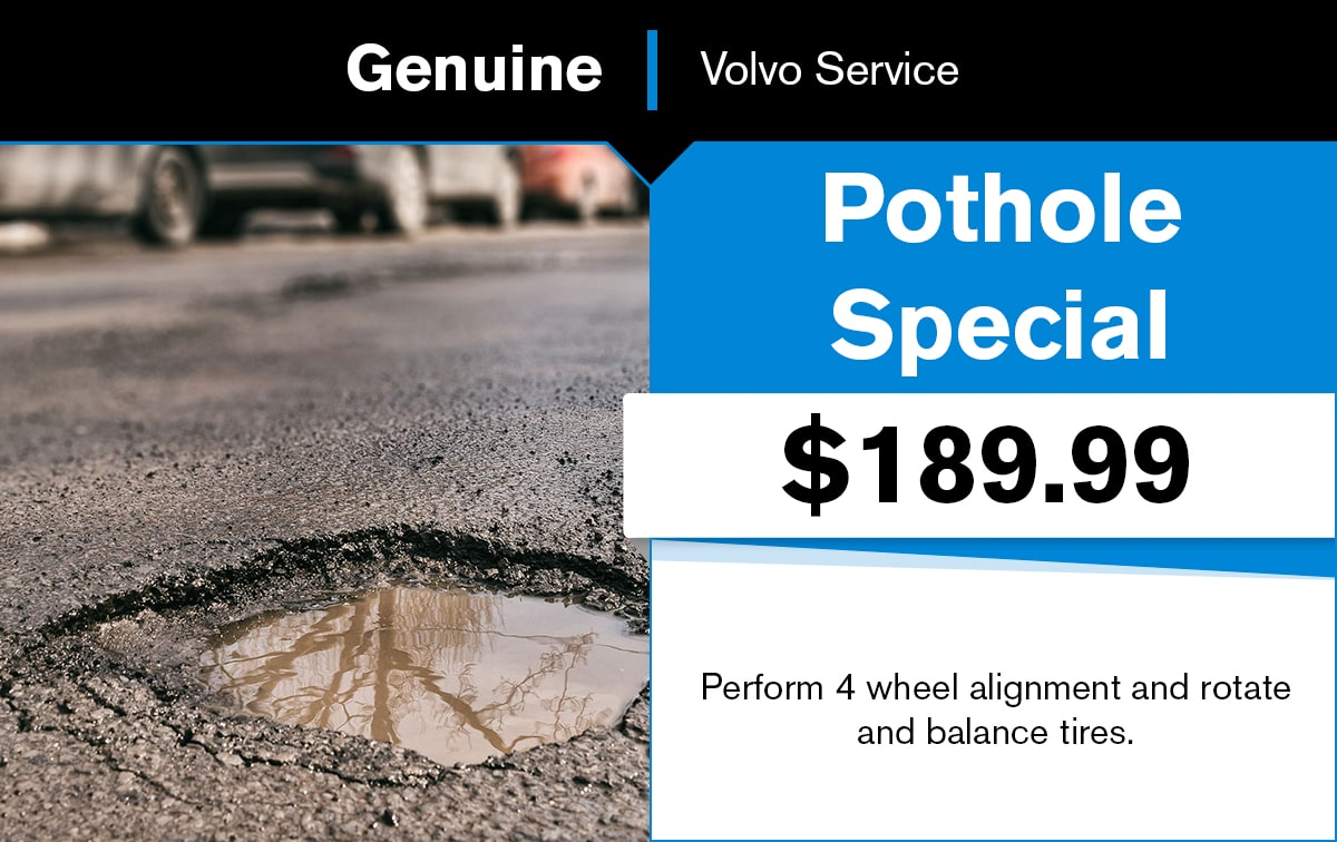 Volvo Pothole Special Coupon