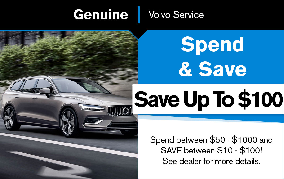 Volvo Spend & Save Special Coupon