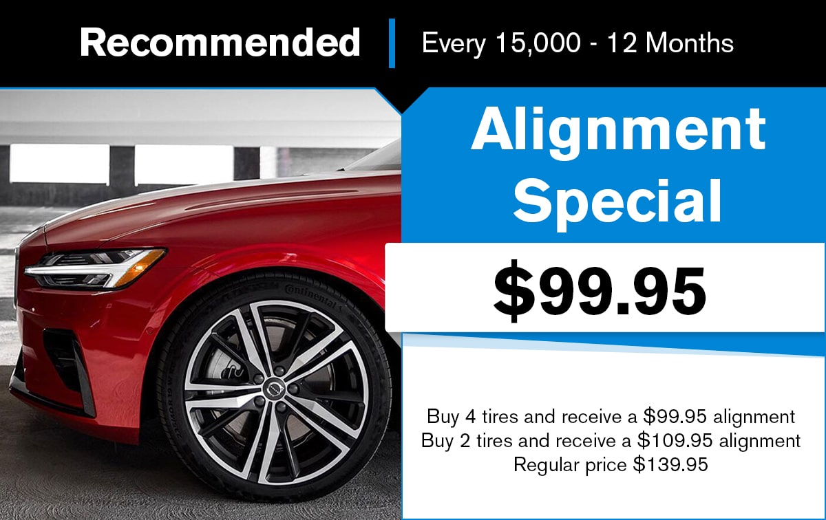 Volvo Alignment Special Coupon