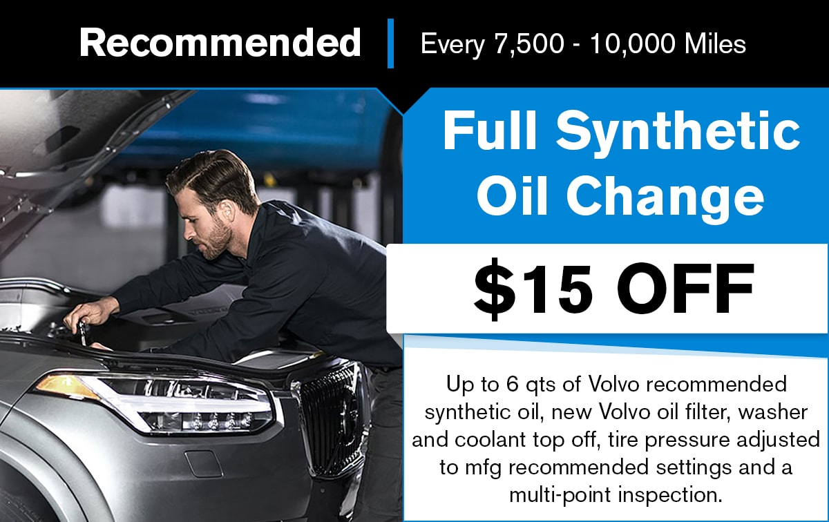 Volvo Full Synthetic Oil Change Service Special Coupon