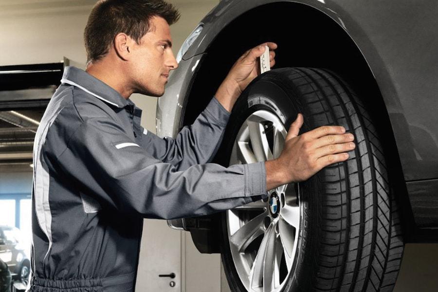 BMW Tire Tread Pressure Check