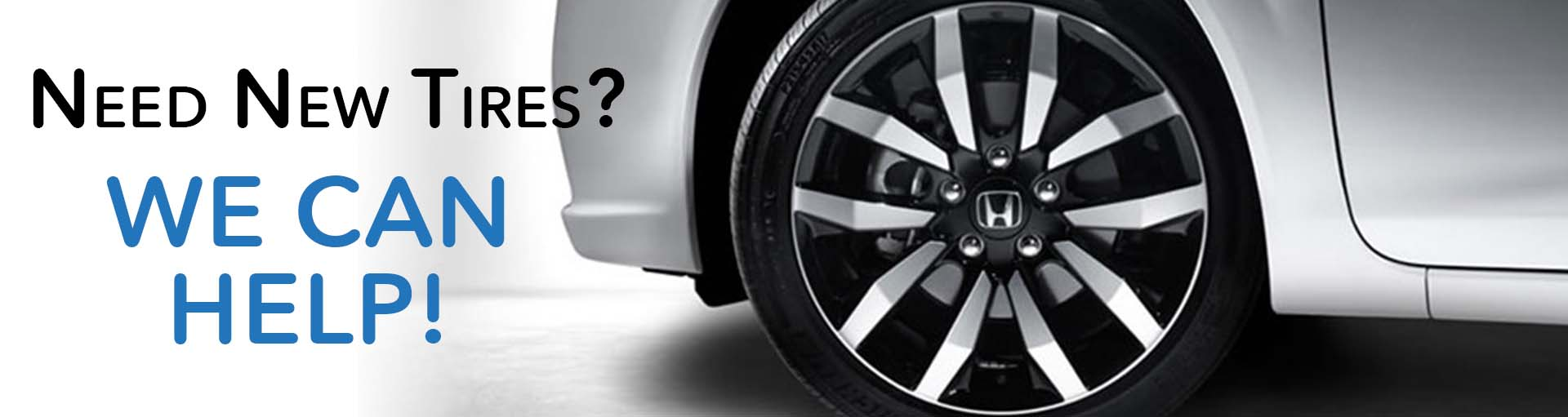 Honda New Tires Banner