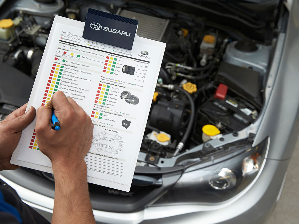 Subaru Multi-Point Vehicle Inspection