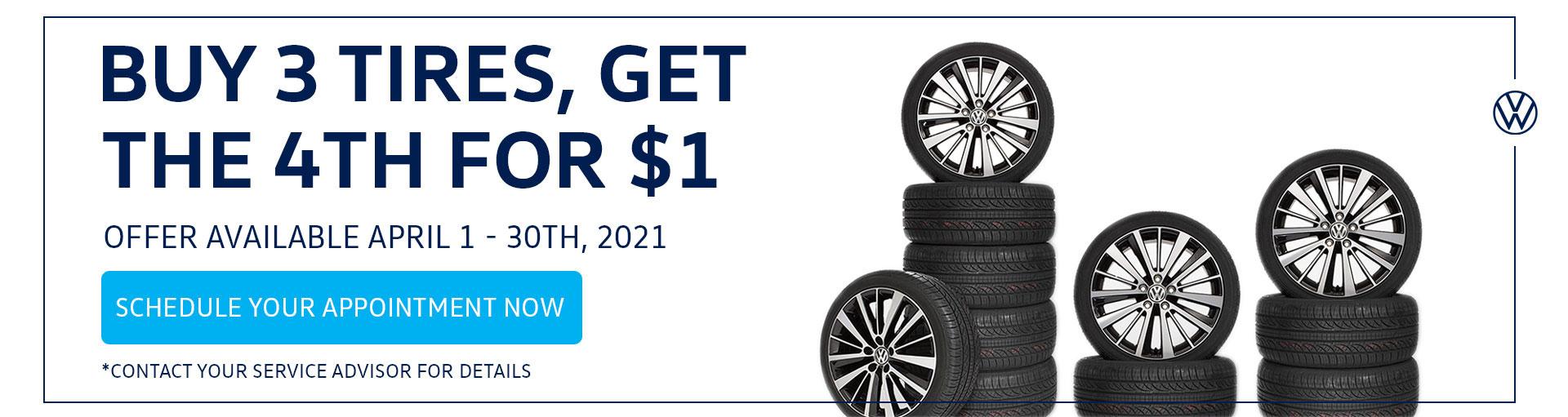 Volkswagen Tire Service Specials